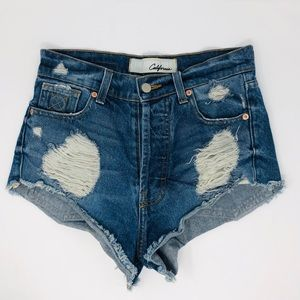 THE LAUNDRY ROOM High Waisted Denim Cut Off Shorts